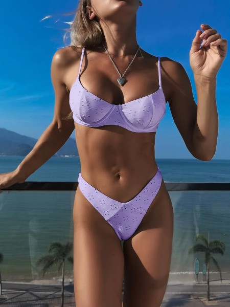 Bikini - Cuteness by day   -   Lila/Zwart/Wit