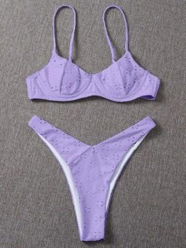 Bikini - Cuteness by day   -   Lila/Zwart/Wit