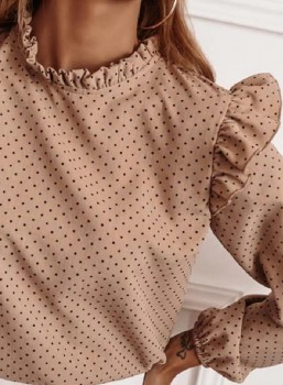 Blouse - Something Real - Roze/Beige