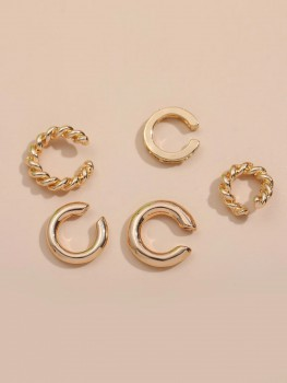 Earrings - Twisted Cuffs - 5 pieces