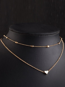 Necklace - Come with me - goud/zilver