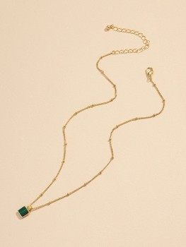 Necklace - Royal green